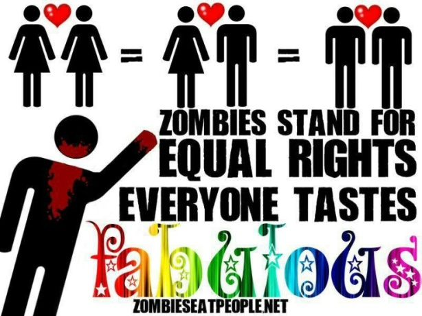 Zombies don't discriminate