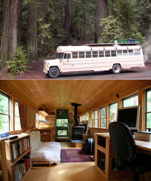 Transportation Shelter A Cozy Converted School Bus Diy Or Die Survival In A Post