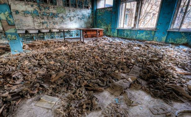 classroom in Chernobyl