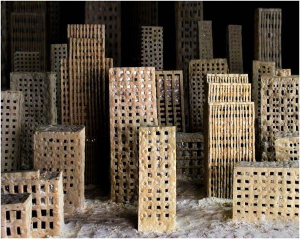 Johanna Mårtensson decor photoinstallation city made from bread mold decay 1